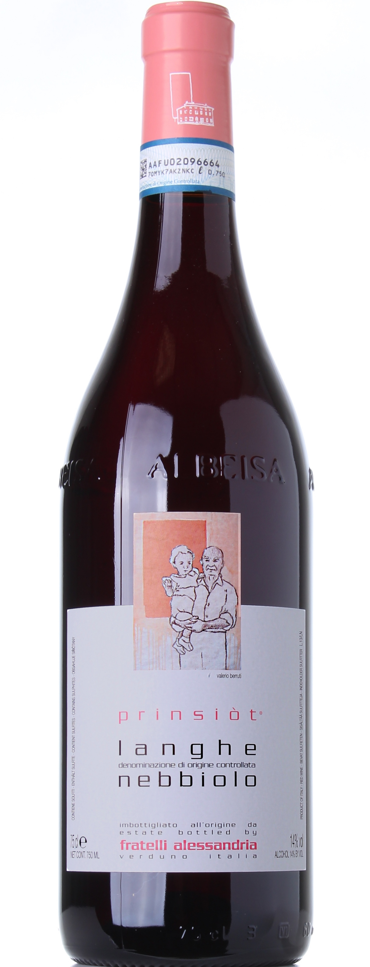 FRATELLI ALESSANDRIA LANGHE NEBBIOLO PRINSIOT 2012