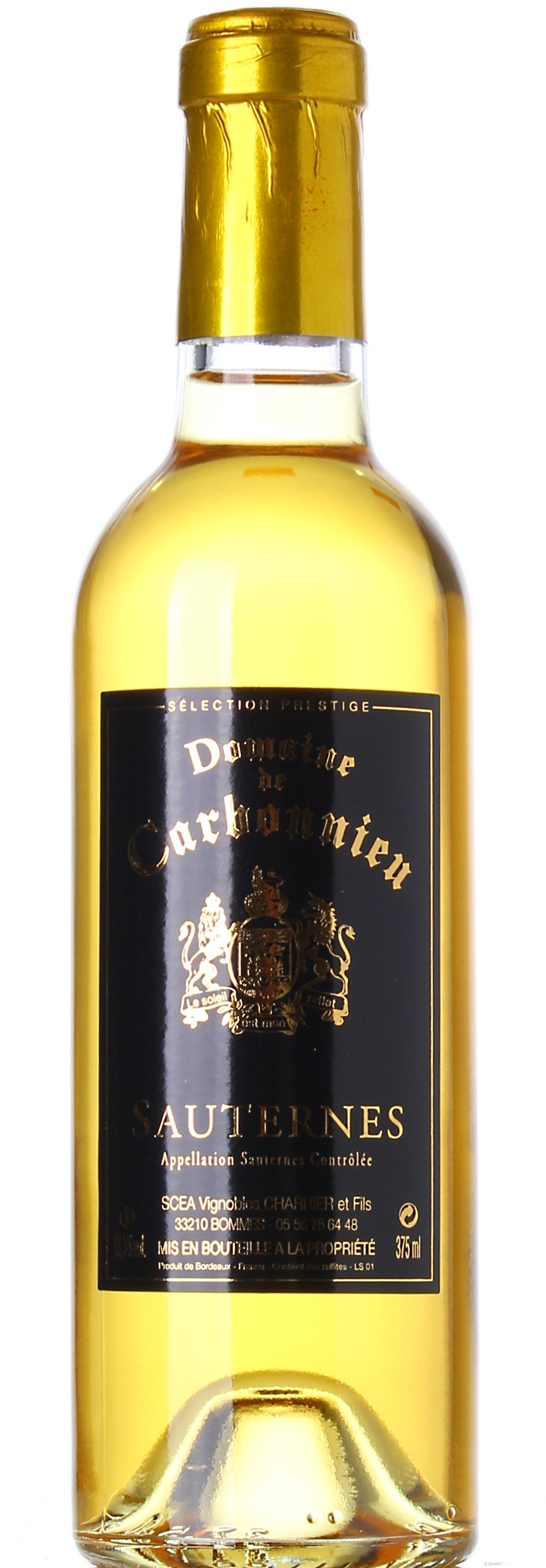 DOMAINE DE CARBONNIEU SAUTERNES SELECTION 2012