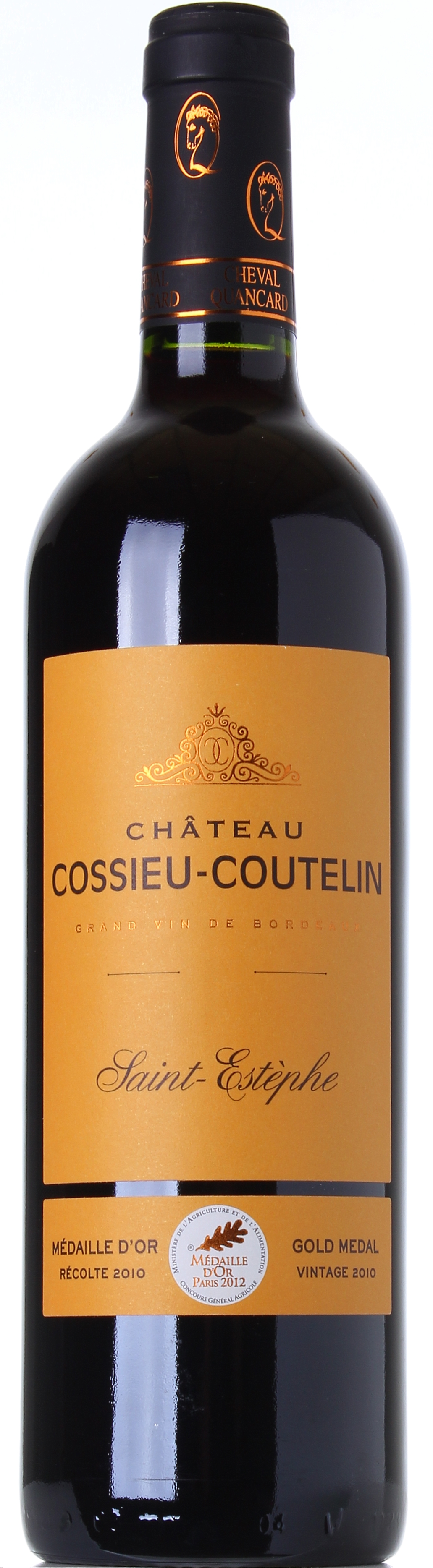 CHEVAL QUANCARD CHATEAU COSSIEU-COUTELIN 2010