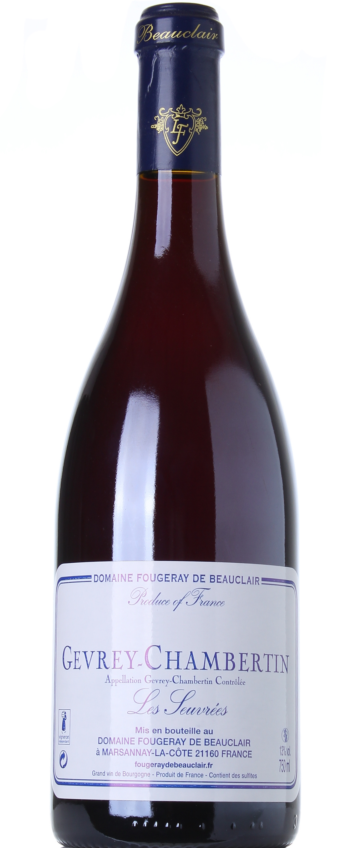 DOMAINE FOUGERAY DE BEAUCLAIR GEVREY CHAMBERTIN LES SEUVREES 2008